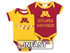 Minnesota Golden Gophers NCAA Infant 2 Pack Contrast Creeper Infant Apparel