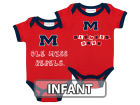 Mississippi Rebels NCAA Infant 2 Pack Contrast Creeper Infant Apparel