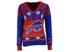 Buffalo Bills Forever Collectibles NFL Women's Big Logo V-Neck Sweater Pullovers