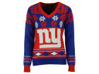 New York Giants Forever Collectibles NFL Women's Big Logo V-Neck Sweater Pullovers