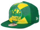 Seattle SuperSonics New Era NBA HWC Cut & Paste 9FIFTY Snapback Cap Adjustable Hats