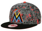 Miami Marlins New Era MLB DC Team Reflective 9FIFTY Snapback Cap Adjustable Hats