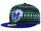 Dallas Mavericks New Era NBA HWC Tri-All Print 9FIFTY Snapback Cap Adjustable Hats