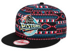 Detroit Pistons New Era NBA HWC Tri-All Print 9FIFTY Snapback Cap Adjustable Hats