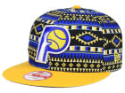 Indiana Pacers New Era NBA HWC Tri-All Print 9FIFTY Snapback Cap Adjustable Hats