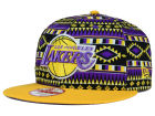Los Angeles Lakers New Era NBA HWC Tri-All Print 9FIFTY Snapback Cap Adjustable Hats