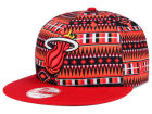 Miami Heat New Era NBA HWC Tri-All Print 9FIFTY Snapback Cap Adjustable Hats