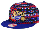 Philadelphia 76ers New Era NBA HWC Tri-All Print 9FIFTY Snapback Cap Adjustable Hats