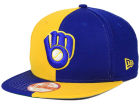 Milwaukee Brewers New Era MLB Double Splitem 9FIFTY Snapback Cap Adjustable Hats