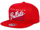 Washington Bullets Mitchell and Ness NBA Cursive Retro Snapback Cap Adjustable Hats