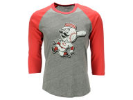 Majestic MLB Men's Heather Logo Triblend Raglan Shirt T-Shirts