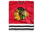 Chicago Blackhawks The Northwest Company Raschel 50x60 Stamp Throw Bed & Bath