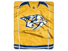 Nashville Predators The Northwest Company Raschel 50x60 Stamp Throw Bed & Bath