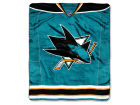 San Jose Sharks The Northwest Company Raschel 50x60 Stamp Throw Bed & Bath