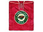 Minnesota Wild The Northwest Company Raschel 50x60 Stamp Throw Bed & Bath