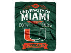 Miami Hurricanes The Northwest Company Raschel 50x60 Rebel Throw Bed & Bath