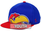 Kansas Jayhawks Zephyr NCAA Youth Peek Snapback Hat Adjustable Hats