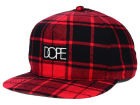 Dope Plaid Box Logo Snapback Hat Hats