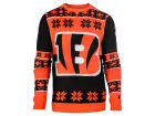 Cincinnati Bengals Forever Collectibles NFL Men's Big Logo Ugly Sweater Pullovers