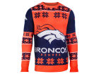Denver Broncos Forever Collectibles NFL Men's Big Logo Ugly Sweater Pullovers