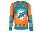Miami Dolphins Forever Collectibles NFL Men's Big Logo Ugly Sweater Pullovers
