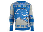 Detroit Lions Forever Collectibles NFL Men's Big Logo Ugly Sweater Pullovers