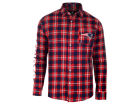 New England Patriots Forever Collectibles NFL Men's Wordmark Flannel Button Up Shirt Button Up Shirts