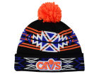 Cleveland Cavaliers Mitchell and Ness NBA Black Geotech Cuffed Pom Knit Hats