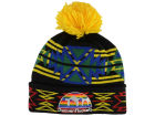 Denver Nuggets Mitchell and Ness NBA Black Geotech Cuffed Pom Knit Hats