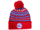 Philadelphia 76ers Mitchell and Ness NBA Mixtec Pom Knit Hats