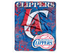 Los Angeles Clippers The Northwest Company 50x60in Plush Throw Drop Down Bed & Bath