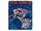 Oklahoma City Thunder The Northwest Company 50x60in Plush Throw Drop Down Bed & Bath