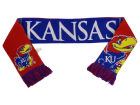 Kansas Jayhawks Forever Collectibles Acrylic Knit Scarf Reversible Split Logo Apparel & Accessories