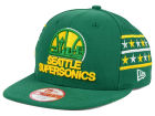Seattle SuperSonics New Era NBA HWC Fine Side 9FIFTY Snapback Cap Adjustable Hats