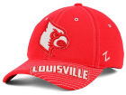Louisville Cardinals Zephyr NCAA Slant Team Color Flex Hat Stretch Fitted Hats