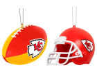 Kansas City Chiefs Forever Collectibles 2pk ABS Ornaments Holiday