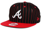 Atlanta Braves New Era MLB Vintage Pinstripe 9FIFTY Snapback Cap Adjustable Hats