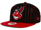 Cleveland Indians New Era MLB Vintage Pinstripe 9FIFTY Snapback Cap Adjustable Hats