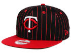Minnesota Twins New Era MLB Vintage Pinstripe 9FIFTY Snapback Cap Adjustable Hats