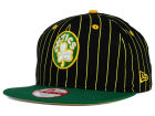 Boston Celtics New Era NBA Hardwood Classics Vintage Pinstripe 9FIFTY Snapback Cap Adjustable Hats