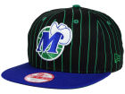 Dallas Mavericks New Era NBA Hardwood Classics Vintage Pinstripe 9FIFTY Snapback Cap Adjustable Hats