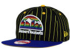 Denver Nuggets New Era NBA Hardwood Classics Vintage Pinstripe 9FIFTY Snapback Cap Adjustable Hats