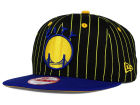Golden State Warriors New Era NBA Hardwood Classics Vintage Pinstripe 9FIFTY Snapback Cap Adjustable Hats
