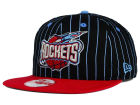 Houston Rockets New Era NBA Hardwood Classics Vintage Pinstripe 9FIFTY Snapback Cap Adjustable Hats
