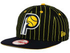 Indiana Pacers New Era NBA Hardwood Classics Vintage Pinstripe 9FIFTY Snapback Cap Adjustable Hats