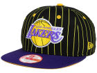 Los Angeles Lakers New Era NBA Hardwood Classics Vintage Pinstripe 9FIFTY Snapback Cap Adjustable Hats