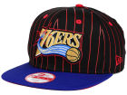 Philadelphia 76ers New Era NBA Hardwood Classics Vintage Pinstripe 9FIFTY Snapback Cap Adjustable Hats
