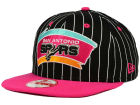 San Antonio Spurs New Era NBA Hardwood Classics Vintage Pinstripe 9FIFTY Snapback Cap Adjustable Hats
