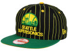 Seattle SuperSonics New Era NBA Hardwood Classics Vintage Pinstripe 9FIFTY Snapback Cap Adjustable Hats
