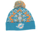 Miami Dolphins New Era NFL Glowflake 2.0 Knit Hats